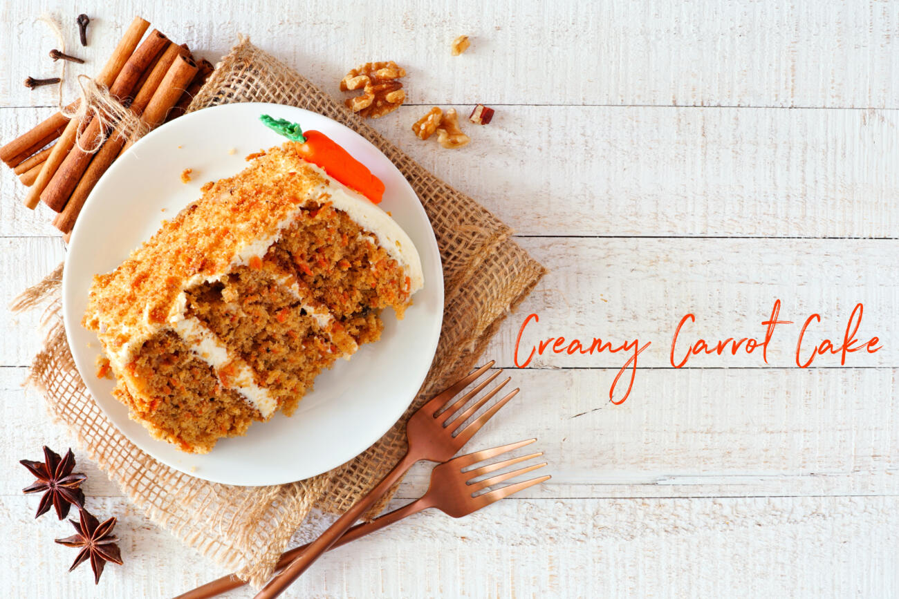 Our Creamy Carrot Cake Recipe for National Cake Day!