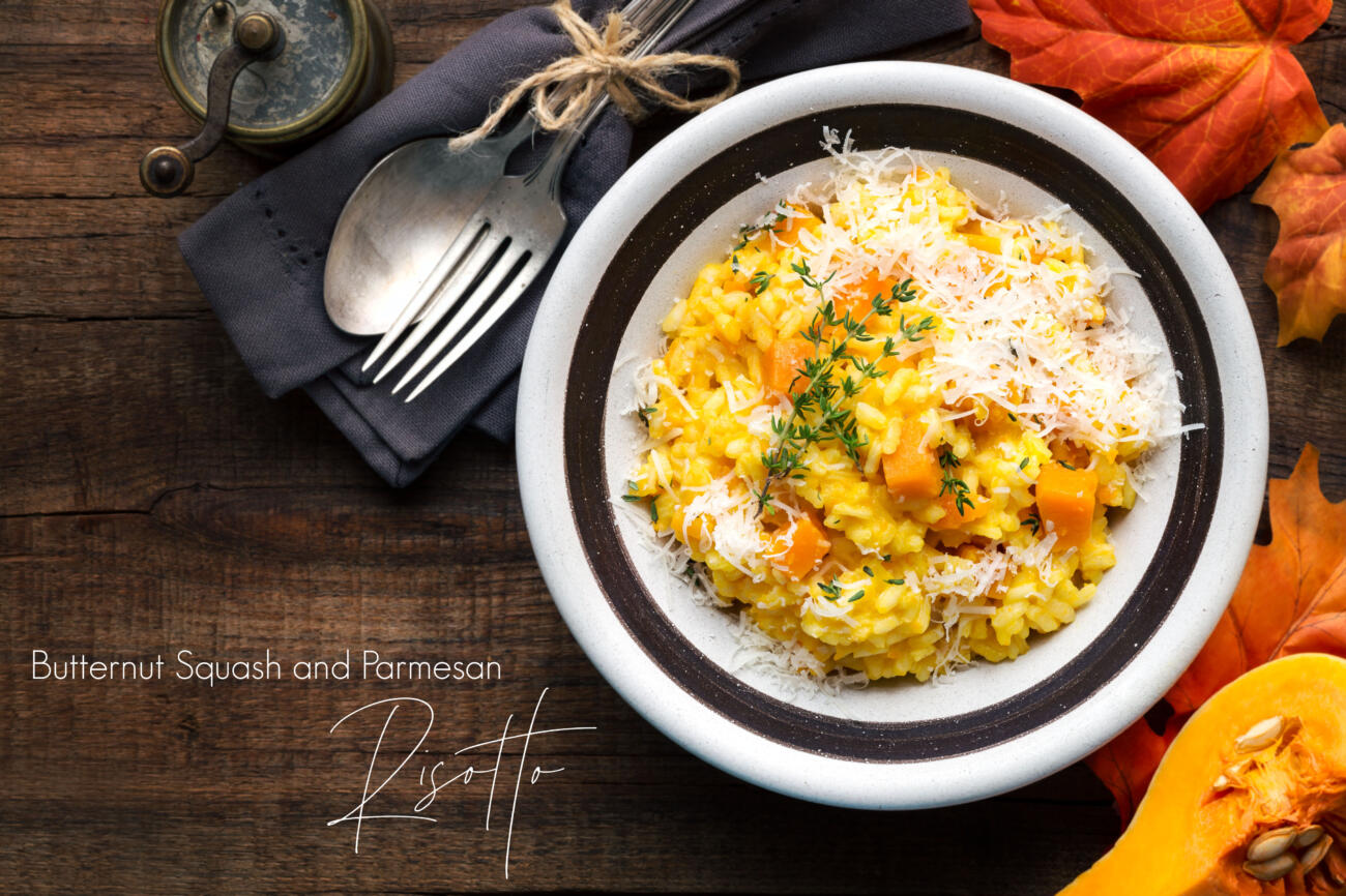 Easy Butternut Squash and Parmesan Risotto Recipe.
